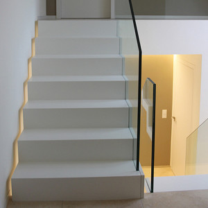 Faltwerktreppe Tischlerei Madeheim Glas und Holz